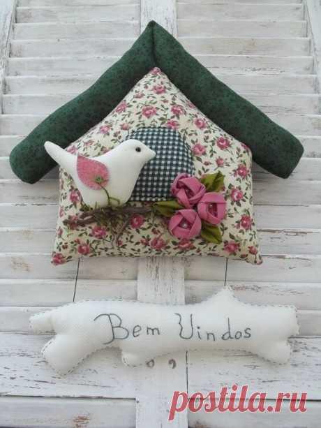 Шебби-дом с птичкой