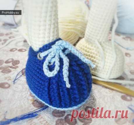 Ботиночки для кукол / Вязание игрушек / ProHobby.su | Вязание игрушек спицами и крючком для начинающих, мастер классы, схемы вязания