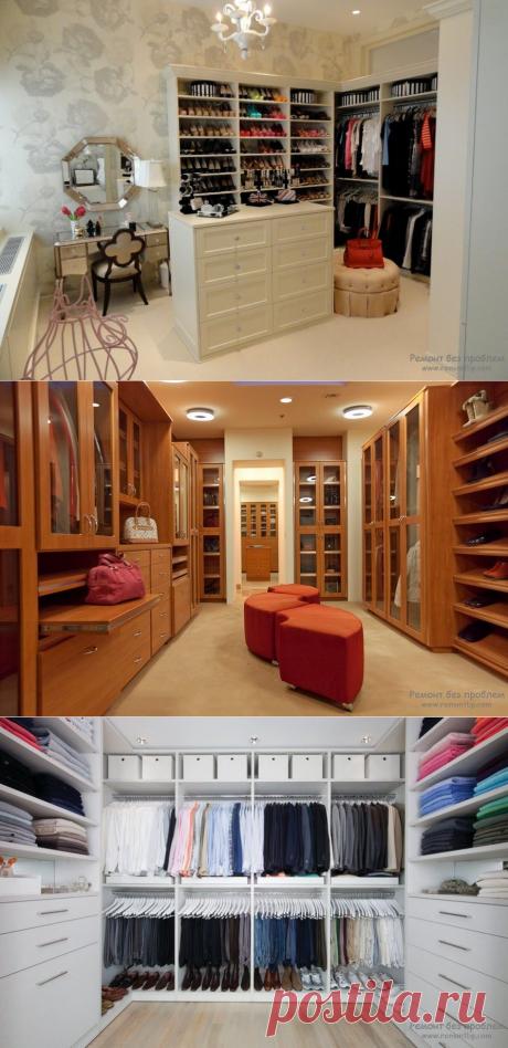 Как обустроить гардеробную комнату: 55 идей интерьера и дизайна
