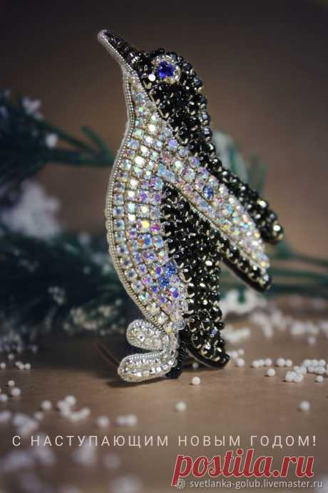 """We embroider a scintillating brooch \""""Penguin\"""": publications and master classes – the Fair of Masters"""