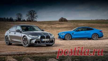 Полноприводные BMW M3 и M4: салон, моторы, комплектация