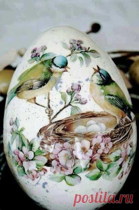 Декупаж пасхальных яиц. Мастер-класс | Домохозяйка