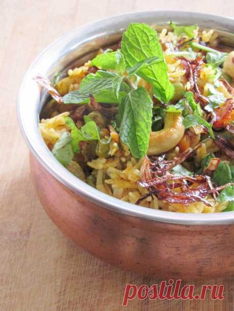 Овощной Biriyani В скороварке Рецепт   Готовить легко