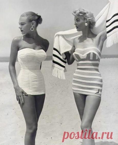 Купальники 1954 года. Сейчас это называется платье :)