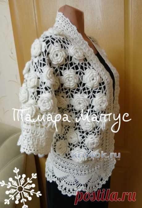 Жакет Много роз. Работа Тамары Матус - вязание крючком на kru4ok.ru