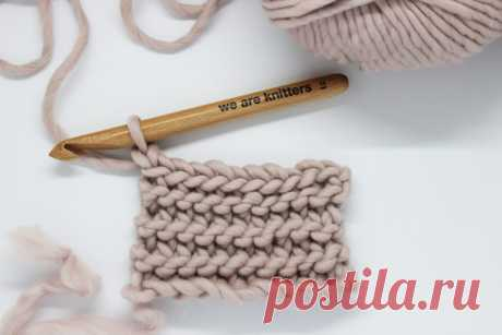 BURNT ORANGE squares are done in Garter Stitch How to crochet garter stitch - The Blog - US/UK