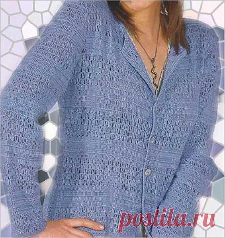 La chaqueta color lila elegante por el gancho \u000d\u000a\u000d\u000aHoy propongo a su atención esta chaqueta color lila. Modelka está en consonancia por el gancho.\u000d\u000aLas dimensiones: 36\/38 (40\/42) 44\/46\u000d\u000aComo Ud será necesario: 300 (350) 400 g del hilado color lila (50 % poliakrila, 30 % de la lana, 2 …