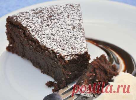 Шоколадный пирог «Капрезе»