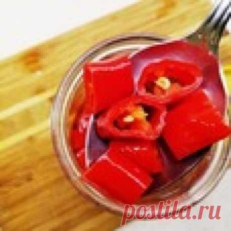 Маринованный перец чили Кулинарный рецепт