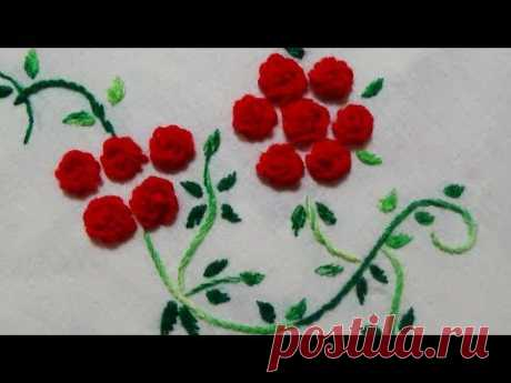 Hand Embroidery: Woven Roses