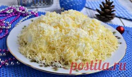 Салат «Сугроб» с курицей – 5 рецептов (с фото пошагово)