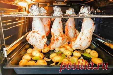 Окорочка с картошкой в духовке – пошаговый рецепт с фотографиями