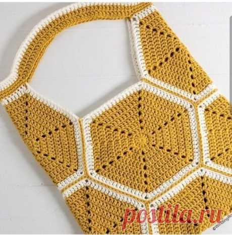Леди-Фея - Уютный дом и сад, декор и рукоделие. Вдохновляем вас каждый день!  Сумочка из мотивов - схема для вязания.