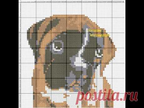 Схемы для вязания жаккарда крючком.Собаки.Часть 1.