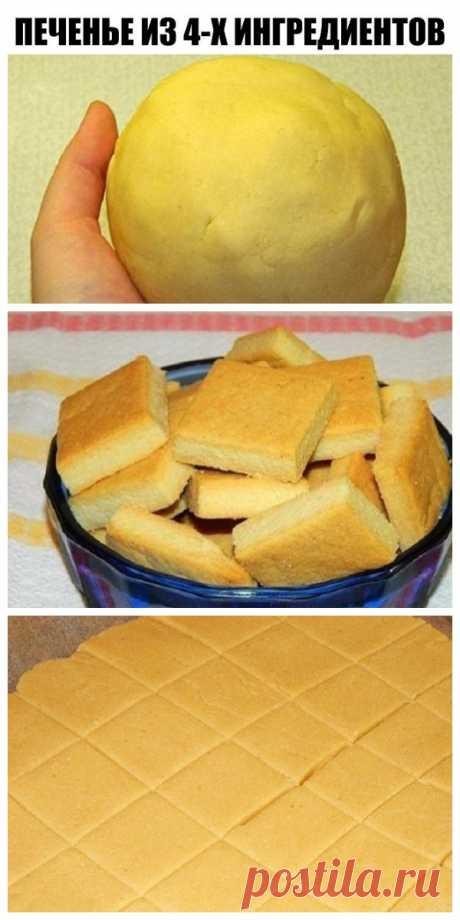 Так легко печенье я еще не пекла…Всего 4 ингредиента и 30 минут, а результат — изумительный!