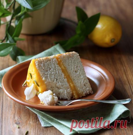 Verdade de sabor: Ангельский торт с лимонным кремом / Bolo dos anjos com curd de limão