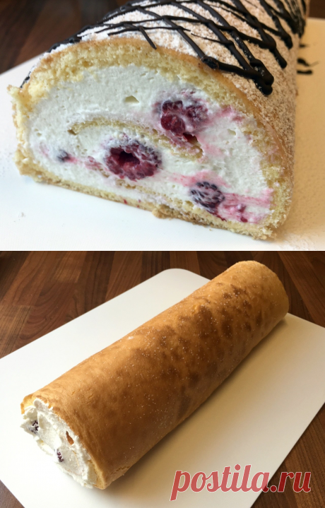 Easily displaced swiss roll — incredibly tasty and air dessert!