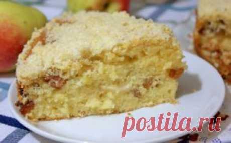 Обалденный яблочный пирог «Домашний» | Тут еда и лучшие рецепты