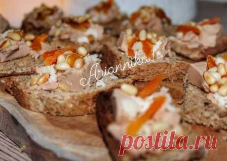 (2) Канапе с паштетом и курагой - пошаговый рецепт с фото. Автор рецепта Инна🏃♂️ . - Cookpad