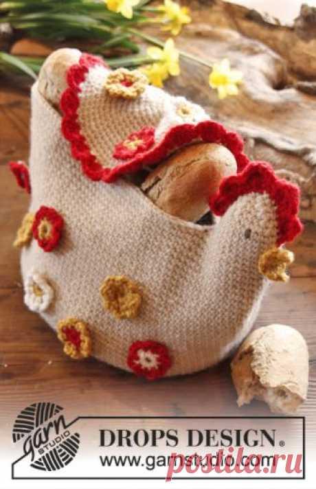 DROPS Easter: Crochet DROPS chicken basket in Nepal.