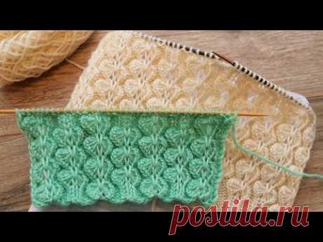 Узор «Орхидея» спицами 💮 «Orchid» knitting pattern