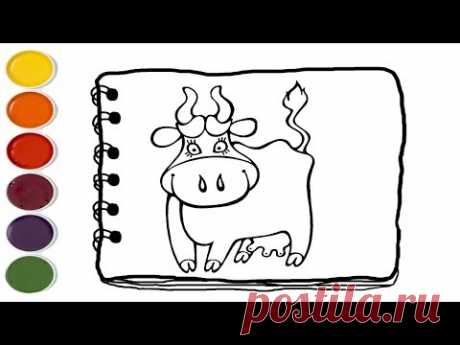 💎Cow Drawing for Kids How to Draw and Color a Cow for Kids Coloring Pages For Kids drawing easy - YouTube
