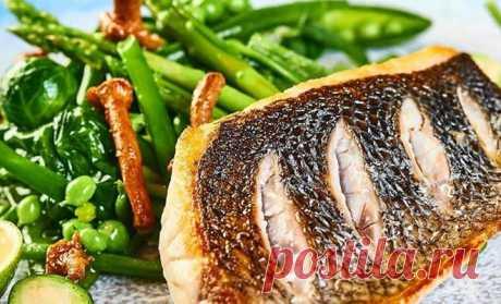 Рыба с овощами как у шеф-повара: хрустящая корочка и сочная внутри