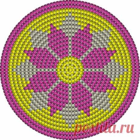 (6) Gallery.ru / Фото #7 - Круговое вязание с бисером - lenadep