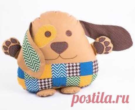 Подушка-игрушка «Лоскутный пес»