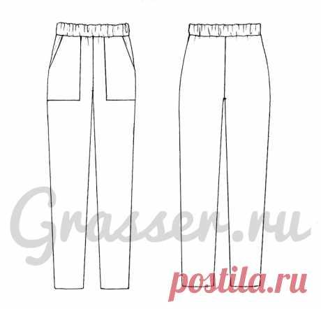 Трикотажные брюки, выкройка №723 купить on-line