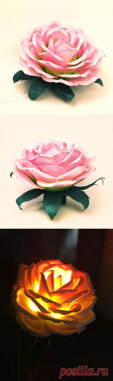 Роза Эсперанса. Светильник из изолона. | Fleur Decor