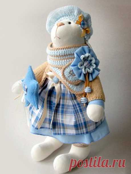Выкройка зайца для пошива игрушки своими руками: заяц Ми, Тильда, кролик на Пасху, Тедди, сплюшка