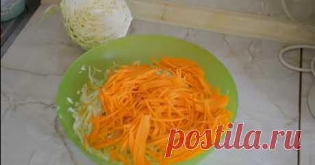 Простой вкусный рецепт квашеной капусты