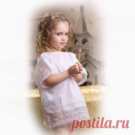 Сорочка крестильная детская | Артикул: ВКР-4063 | Детская одежда