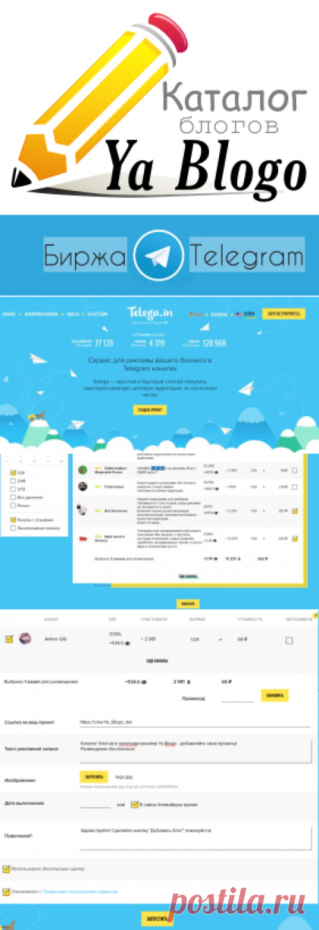 Где купить рекламу в телеграм? Обзор биржи telega.in   Ya Blogo
