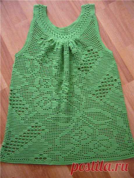 Платье для девочки в филейной технике крючком. Красивое платье на девочку крючком в филейной технике.