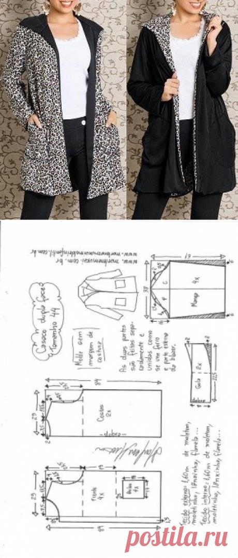 Casaco dupla face | DIY - molde, corte e costura - Marlene Mukai