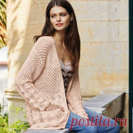 Cardigan and top with openwork patterns - the scheme of knitting by spokes. We knit Sets on Verena.ru