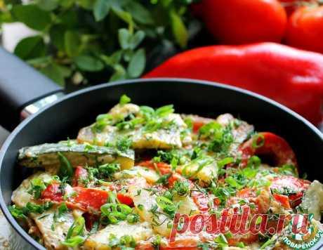 Цуккини с перцем в сметане - кулинарный рецепт