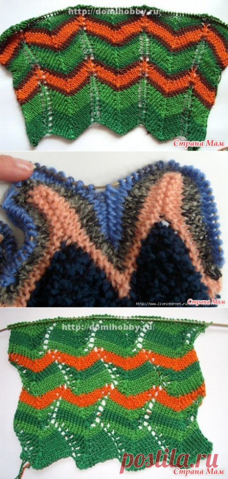 Features of knitting of patterns of Missoni spokes