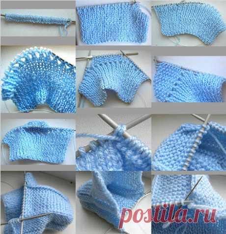 Как вязать пинетки для новорожденных спицами и крючком