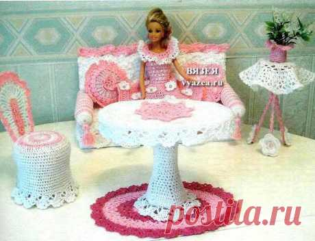 Sundress and furniture for Barbie a hook