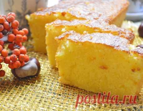 Апельсиновый кекс. Ингредиенты: яйца куриные, сахар, сливочное масло
