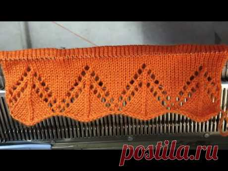 Single border design in knitting machine #6 (निटिंग मशीन में सिंगल बोडर डिजाइन #6)