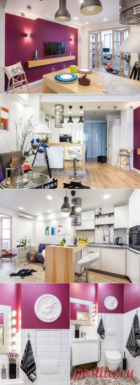 Project of the apartment of 38 sq.m - Interior design | Ideas of your house | Lodgers