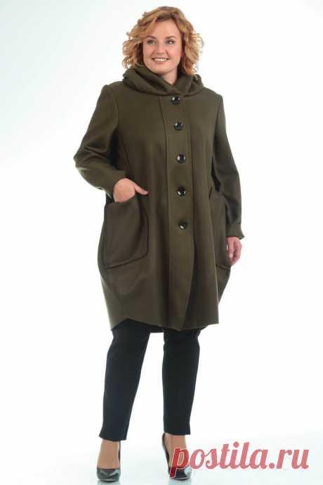 Пальто Pretty 485 хаки - купить с доставкой по России | Интернет-магазин «Presli.by»