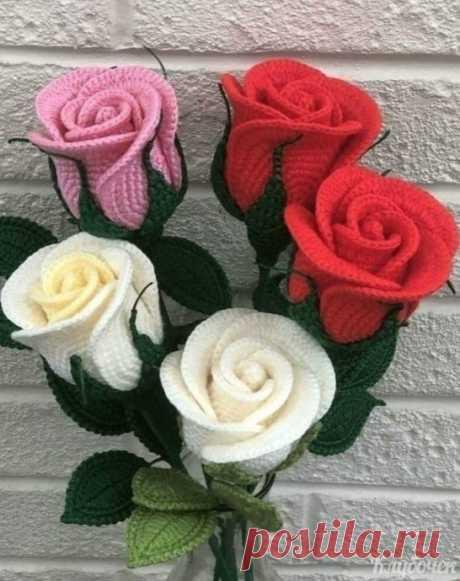 Вяжем розы