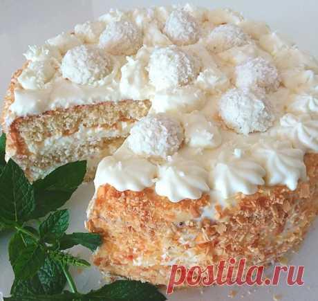 Торт Рафаэлло - пошаговый рецепт с фото
