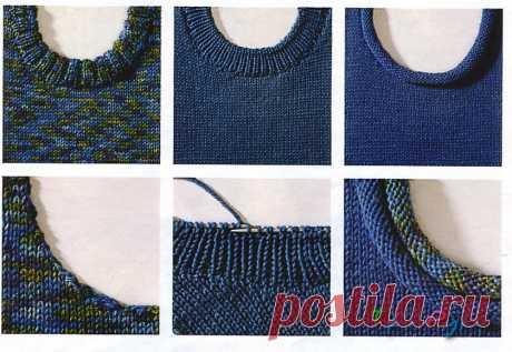 Разновидности вязаной бейки спицами