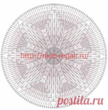 Сидушки на круглый табурет крючком схемы и описание